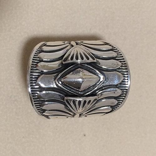 Navajo Sterling Silver Stamp Ring