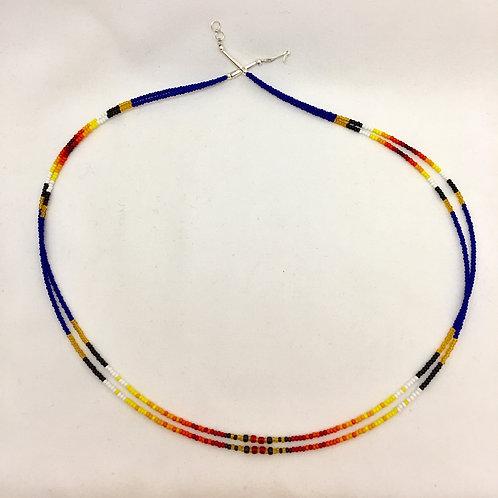 "Navajo Handmade 2 Strand Glass Bead Necklace 23"""