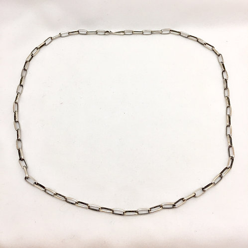 """Navajo Sterling Silver Oval Link Chain 24"""""""