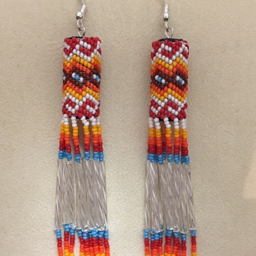 Navajo Handmade Beaded Hook Earrings