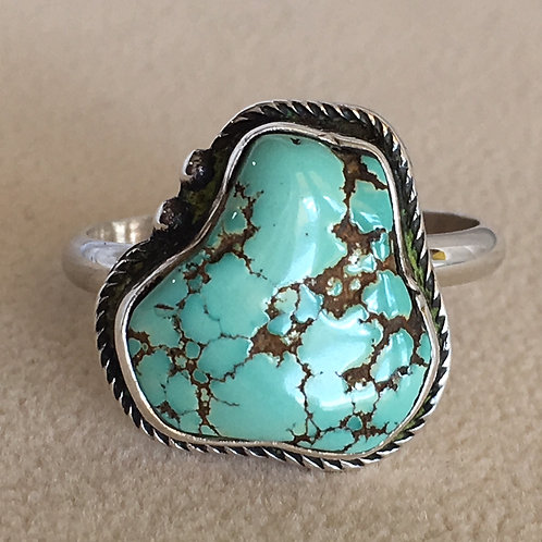 Navajo Sterling Silver No.8 Turquoise Ring