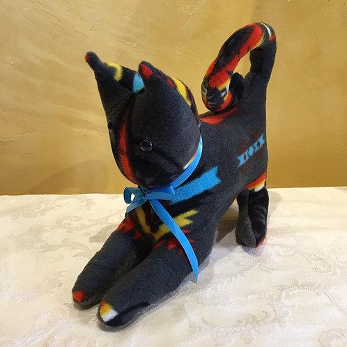 Navajo Handmade Charcoal Pendleton Cat Blu Collar