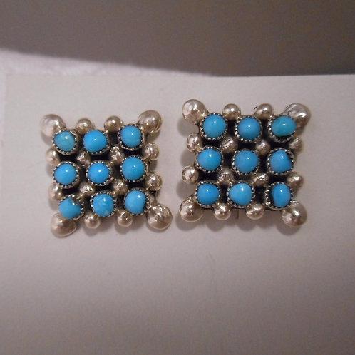 Sterling Silver Snakeye Turquoise Post Earrings