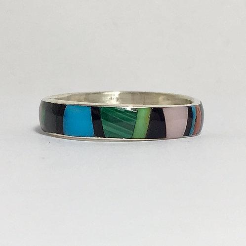 Zuni Multi-Stone Inlaid Ring