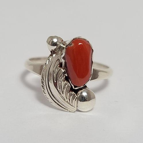 Zuni Sterling Silver Leaf Ring
