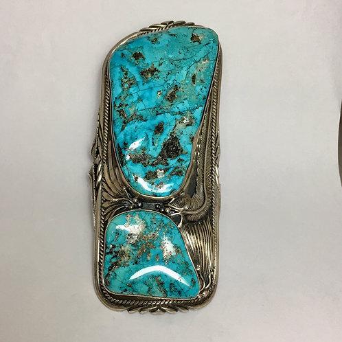 Navajo Sterling Vintage 1970's Morenci Large Bracelet