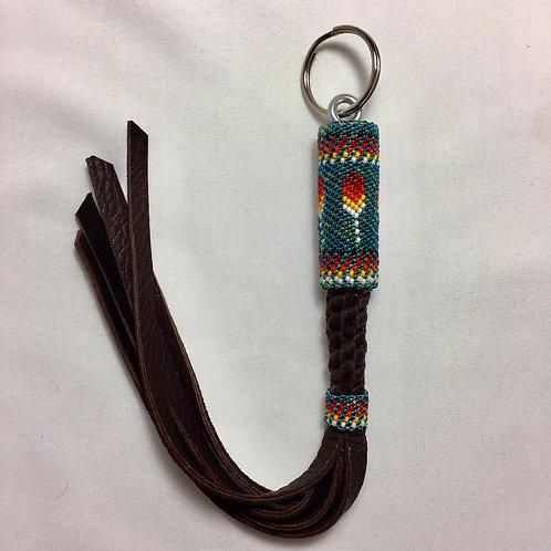 Navajo Handmade Feather #15 Beaded Key Chain #11