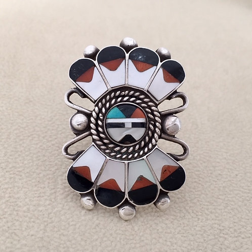 Zuni Sterling Silver Sunface Ring