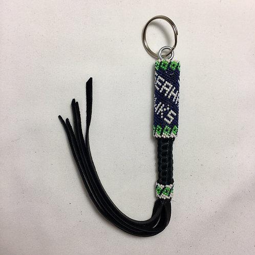 Navajo Handmade Seahawk #15 Beaded Key Chain #7