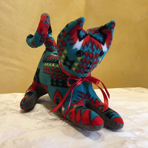 Navajo Handmade Turquoise Pendleton Cat Red Collar