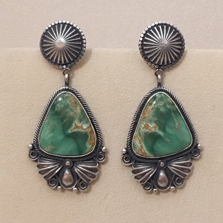Navajo Sterling Silver Royston Stone Post Earring