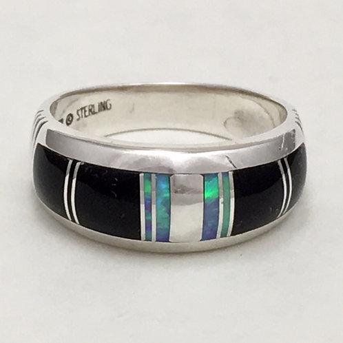Navajo Sterling Silver Stoneweaver Ring