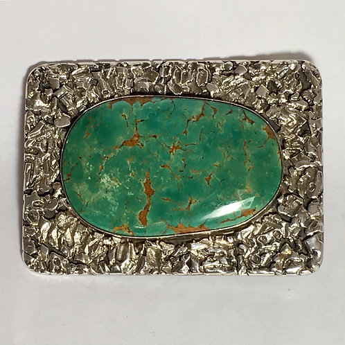 Navajo Sterling Silver Royston Turquoise Buckle