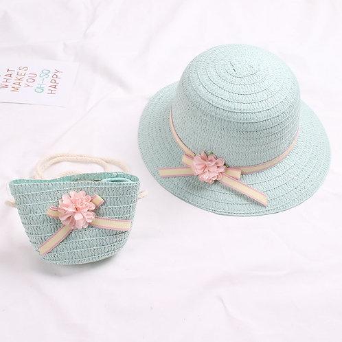 Flower Hat and Handbag Set