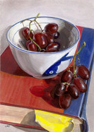 Red Grapes on Red Book
