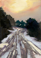 Icy Road Reflections