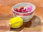 Cherries and Tea Rose