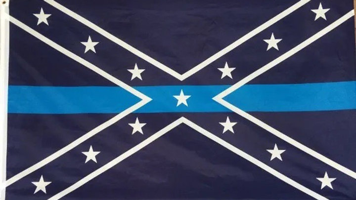Blue Line Battle Flag - 3X5 Free Shipping