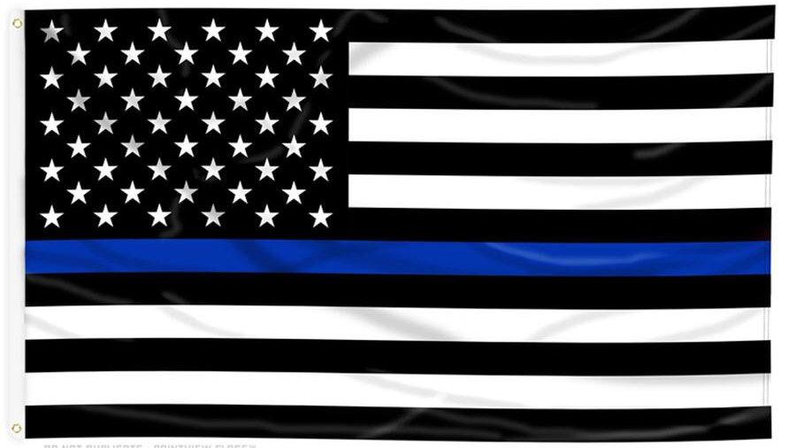 Thin Blue Line US Flag Free Shipping