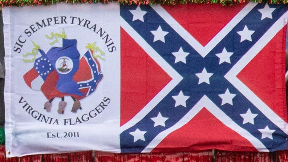Virginia Flaggers Logo Battle Flag