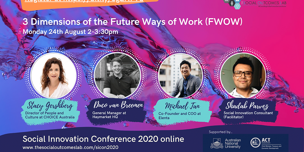3 Dimensions of the Future Ways of Work (FWOW)
