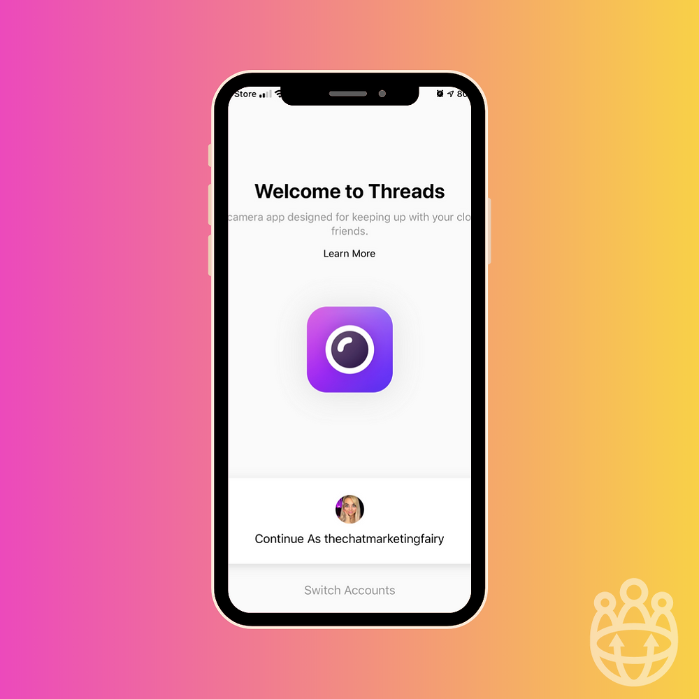 how to set up threads account