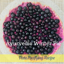 Blueberry Purple Sweet Potato Pie