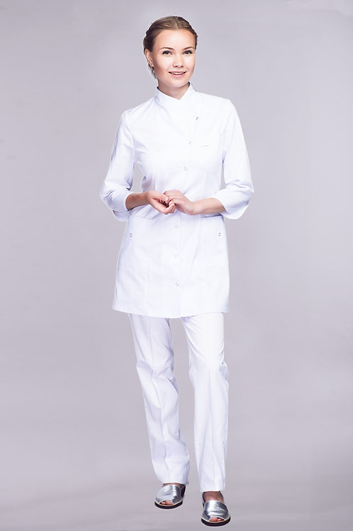 Медицинский костюм Ландыш с длинной рубашкой