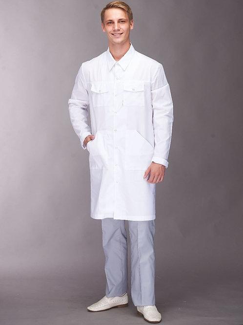 Медицинский халат Мужской на кнопках