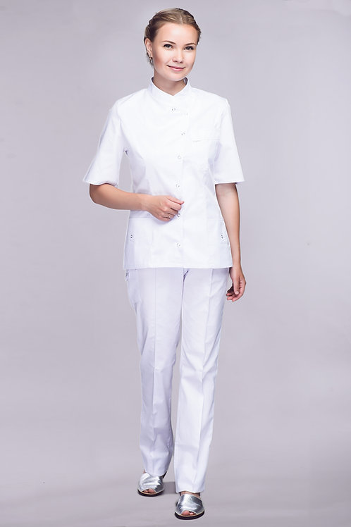 Медицинский костюм Ландыш с короткой рубашкой
