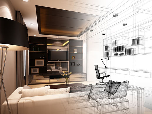 Perspective intérieur maison architecte
