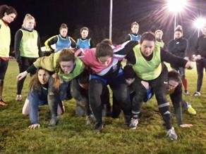 Les Alba Ladies participent à un entraînement mêlée