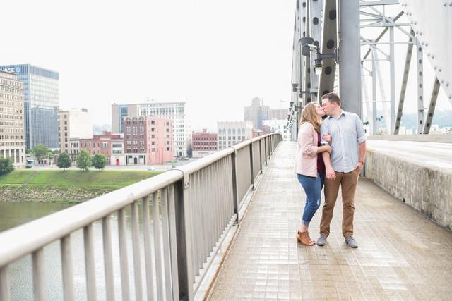 Megan & Josh || Downtown Charleston Engagement || WV Wedding Photographer