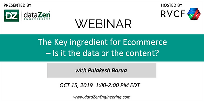 Webinar: The Key ingredient for Ecommerce - Is it the data or the content?