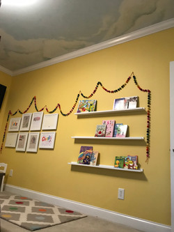 Playroom with Cloud Mural Ceiling