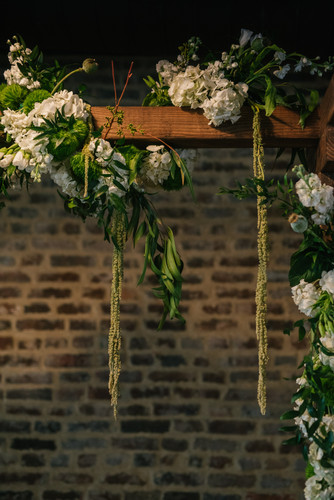Floral-covered Arbor