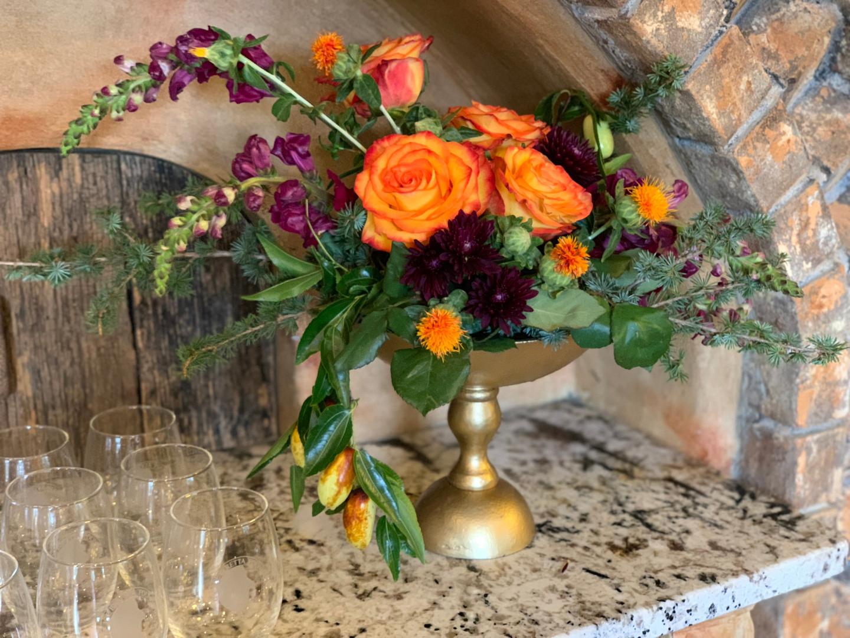 Floral in Brass