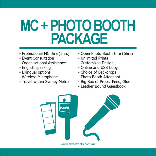 Fave Package - MC Photo Booth 2020