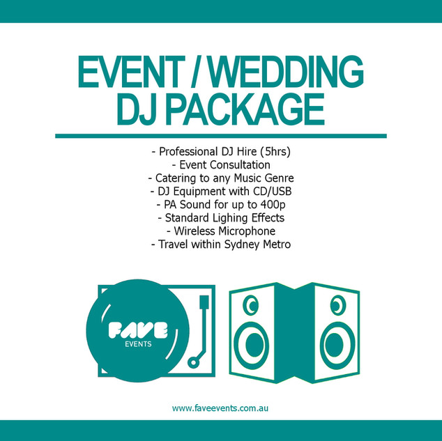 Fave Package - DJ 2020