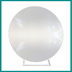 Fave Props - White Round Backdrop Stand.