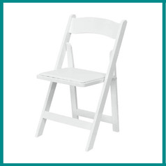 Fave Props - Wedding White Folding Chair