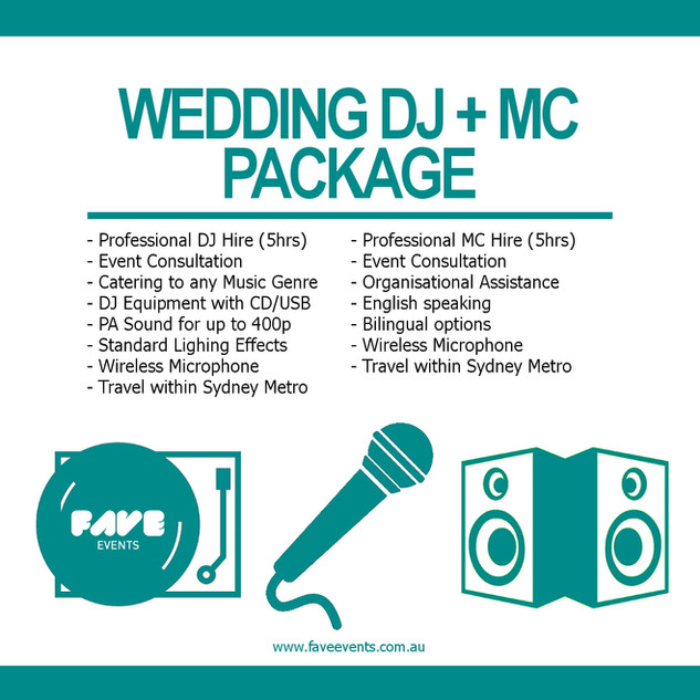 Fave Package - DJ MC 2020