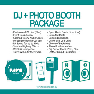 Fave Package - DJ Photo Booth 2020