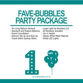 Fave Package - Fave Bubbles 2020