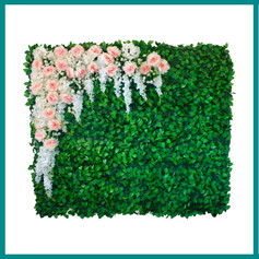 Fave Props - Neutral Corner Floral Green