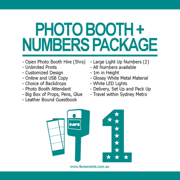 Fave Package - Photo Booth Numbers 2020