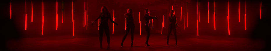 4 dancers - lights all the way acrossred