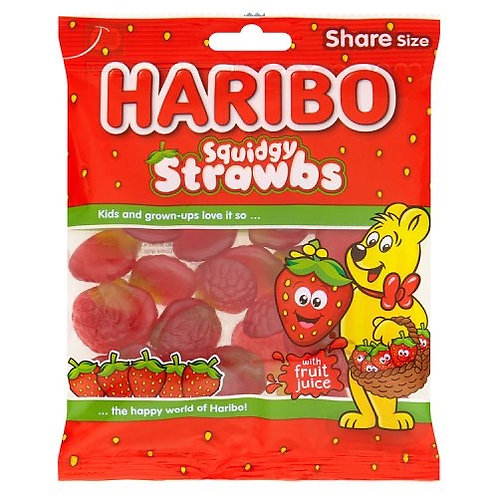 Haribo Hang Bags Squidgy Strawbs