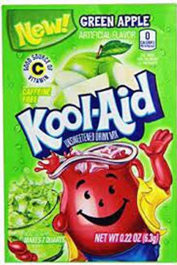 Kool-Aid. Green Apple 2quart unsweetened