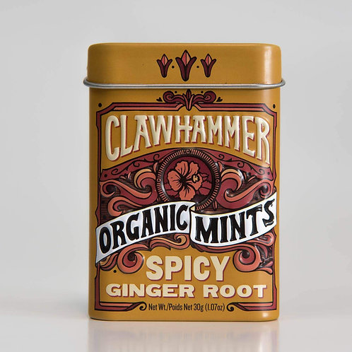 Clawhammer spicy ginger root mints